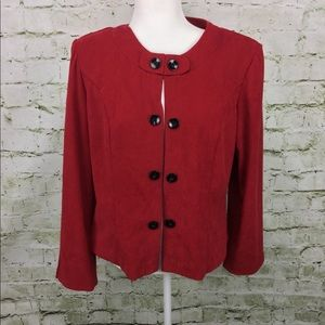 R & k Red Blazer size 12